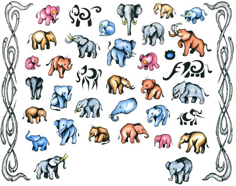 Много слонов слон слон и еще раз слон