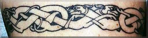 Кельтский змей тату