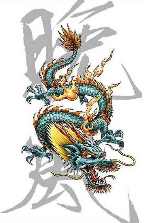 драконы картинки наколки