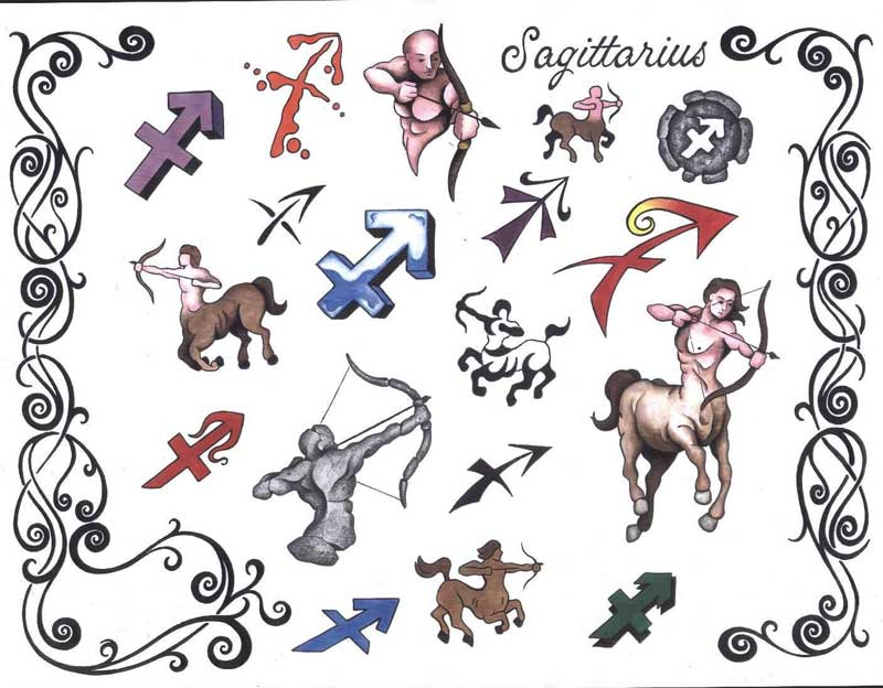 рисунки знаков зодиака: